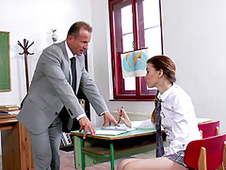 Misha Cross is a hot brunette who wants ta mature man's cock