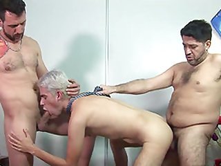 Latin boy Fernand stops by his favorite daddys house for some dad and son bareback sex.